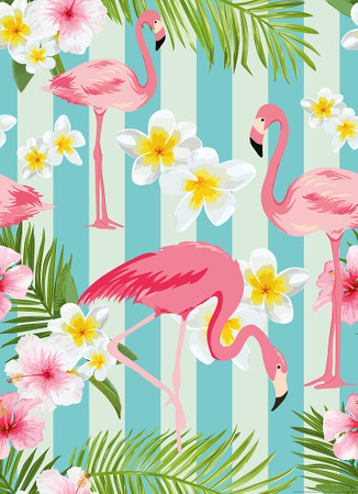 Vlies Fototapete Flamingos 184x254cm