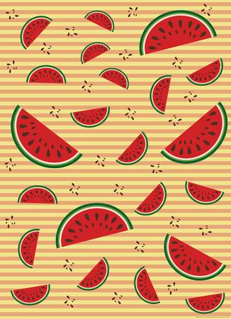 Vlies Fototapete Melonen Orange 184x254cm – Bild 1