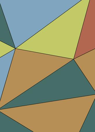 Vlies Fototapete Kunst Polygone 1 184x254cm – Bild 3