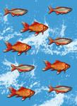 Vlies Fototapete Goldfisch 184x254cm 001