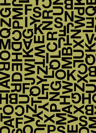 Vlies Fototapete Alphabetische Zeichen 184x254cm – Bild 1