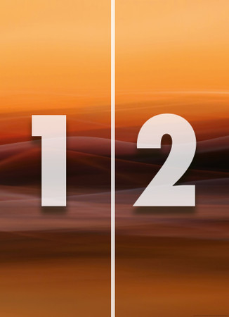 Vlies Fototapete Oranger Nebel 184x254cm – Bild 4