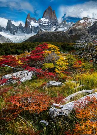 Vlies Fototapete El Chalten Argentinien 184x254cm – Bild 1
