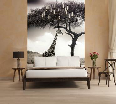 Vlies Fototapete Giraffen Safari 184x254cm – Bild 2