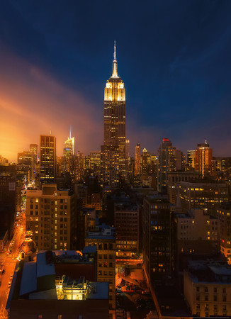 Vlies Fototapete Empire State Building New York 184x254cm – Bild 1