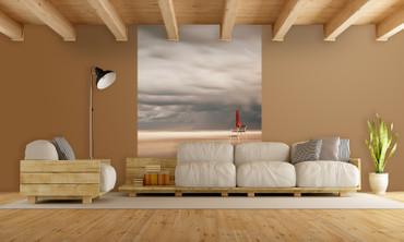 Vlies Fototapete Stuhl am Strand 184x254cm – Bild 2