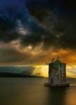 Vlies Fototapete Alte Windmühle 184x254cm 001