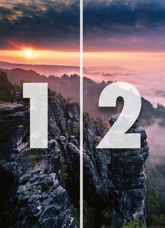 Vlies Fototapete Sonnenaufgang auf den Felsen 184x254cm – Bild 4