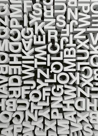 Vlies Fototapete 3D Typografie Buchstaben Abc 184x254cm – Bild 1