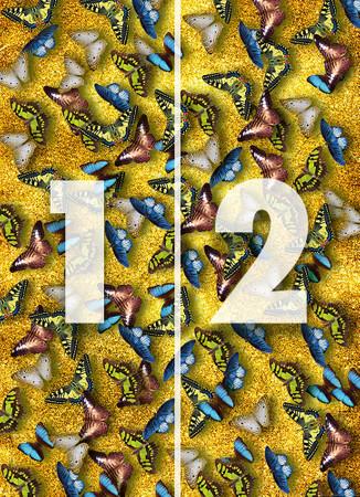 Vlies Fototapete Schmetterlinge 184x254cm – Bild 4
