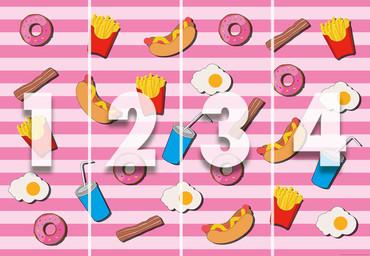 Papier Fototapete Fast Food Küche Pink 368x254cm – Bild 4