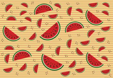 Papier Fototapete Melonen Orange 368x254cm – Bild 1