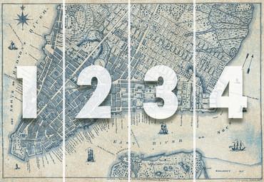 Papier Fototapete Alter Vintage Stadtplan New York 368x254cm – Bild 4