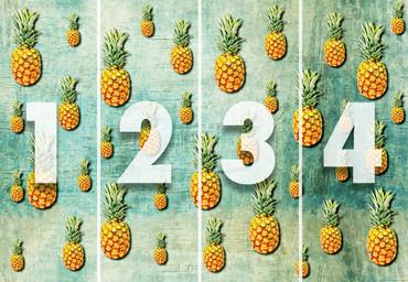 Papier Fototapete Tropische Ananas 368x254cm – Bild 4