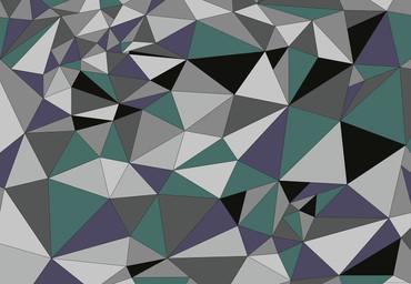 Papier Fototapete Kunst Polygone 2 368x254cm – Bild 1