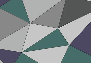 Papier Fototapete Kunst Polygone 2 368x254cm – Bild 3