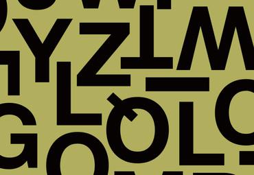Papier Fototapete Alphabetische Zeichen 368x254cm – Bild 3