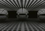 Papier Fototapete 3D Kugel Silber 368x254cm 001