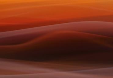 Papier Fototapete Oranger Nebel 368x254cm – Bild 3