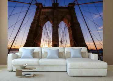 Papier Fototapete Brooklyn Bridge USA 368x254cm – Bild 2