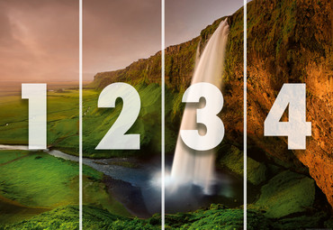 Papier Fototapete Wasserfall in Island 368x254cm – Bild 4