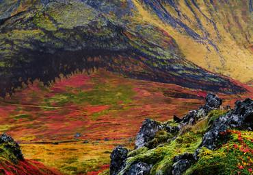 Papier Fototapete Berg in Island 368x254cm – Bild 3