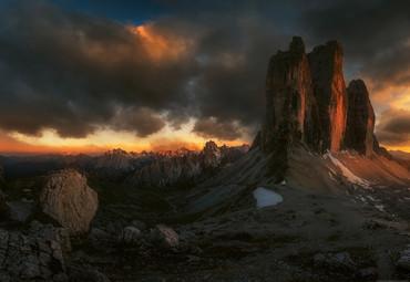 Papier Fototapete Dolomiten Italien 368x254cm