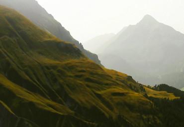 Papier Fototapete Schweizer Berge 368x254cm – Bild 3