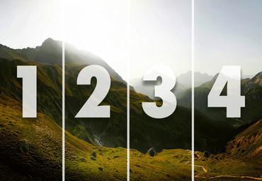 Papier Fototapete Schweizer Berge 368x254cm – Bild 4