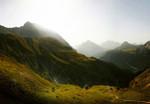 Papier Fototapete Schweizer Berge 368x254cm 001