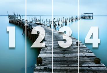 Papier Fototapete Alter Steg aus Holz 368x254cm – Bild 4