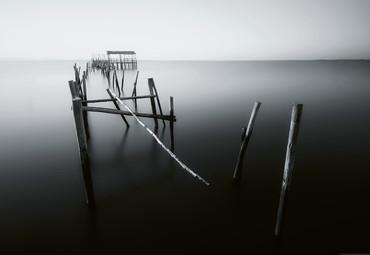 Papier Fototapete Alter Pier in Portugal 368x254cm – Bild 1