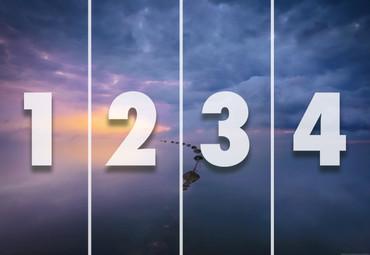 Papier Fototapete Meer, Wolken & Sonnenaufgang 368x254cm – Bild 4