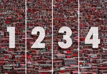 Papier Fototapete Rote Häuser China 368x254cm – Bild 4