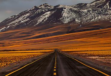 Papier Fototapete Straße Atacama 368x254cm – Bild 3