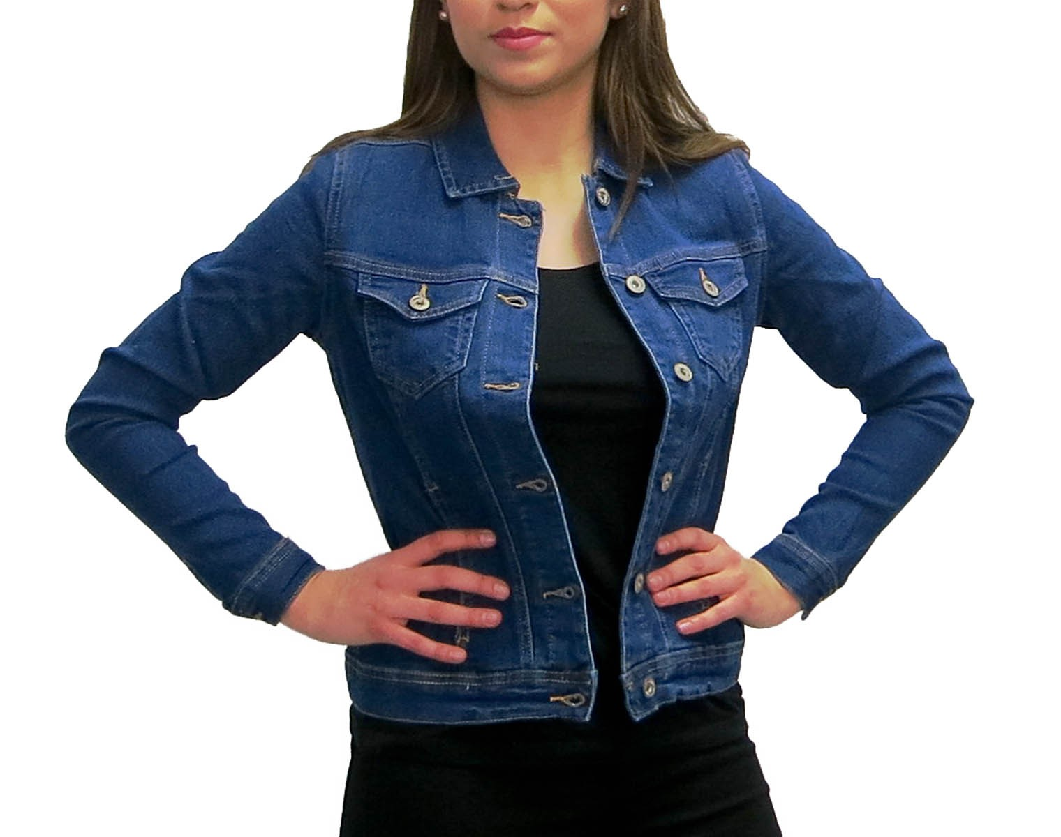 damen denim jacket jeansjacke women jacket jeans jacke ebay. Black Bedroom Furniture Sets. Home Design Ideas