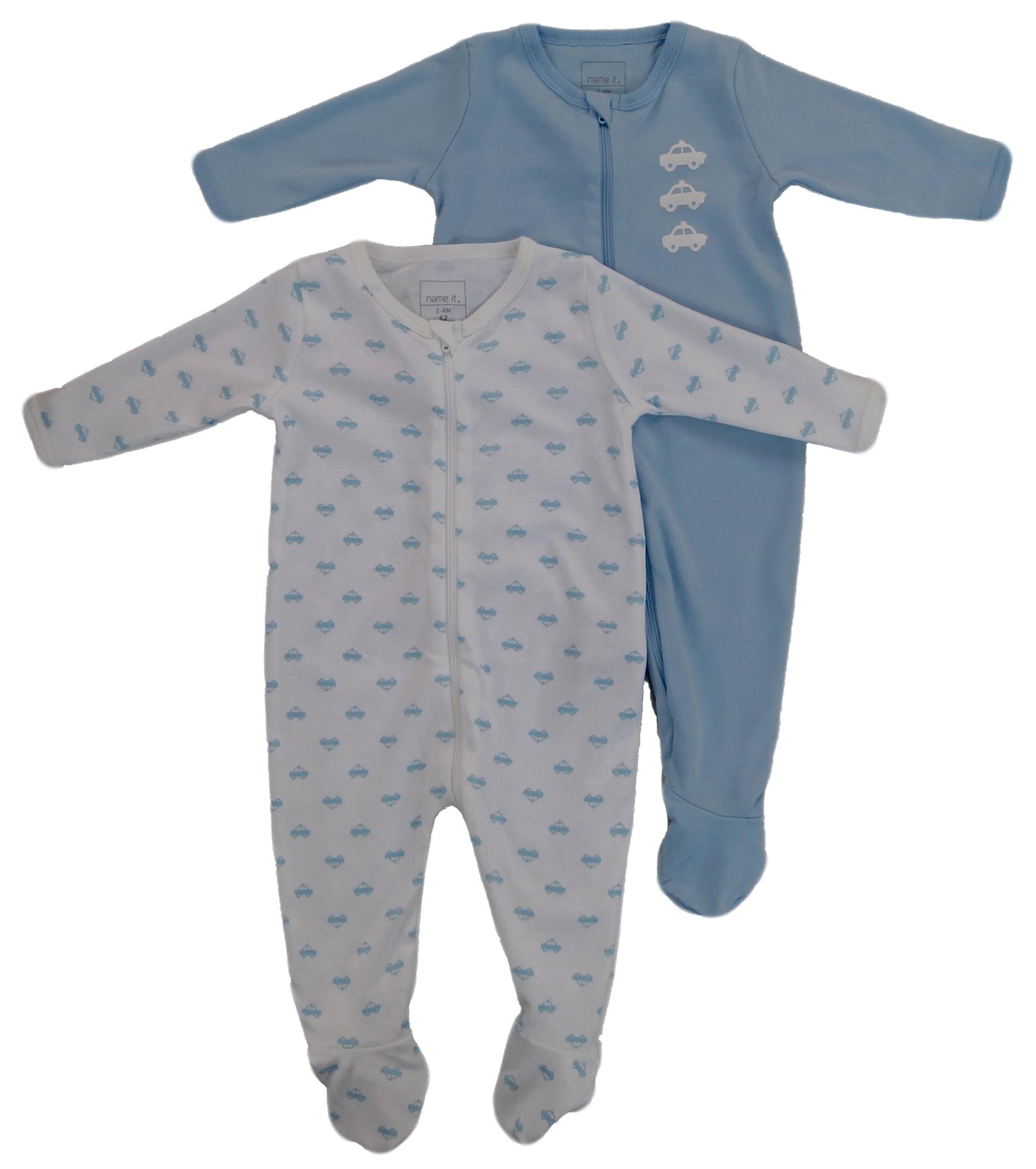 Name It 2er Pack SCHLAFANZUG Baby Jungen Nightsuit Strampler Einteiler Overall