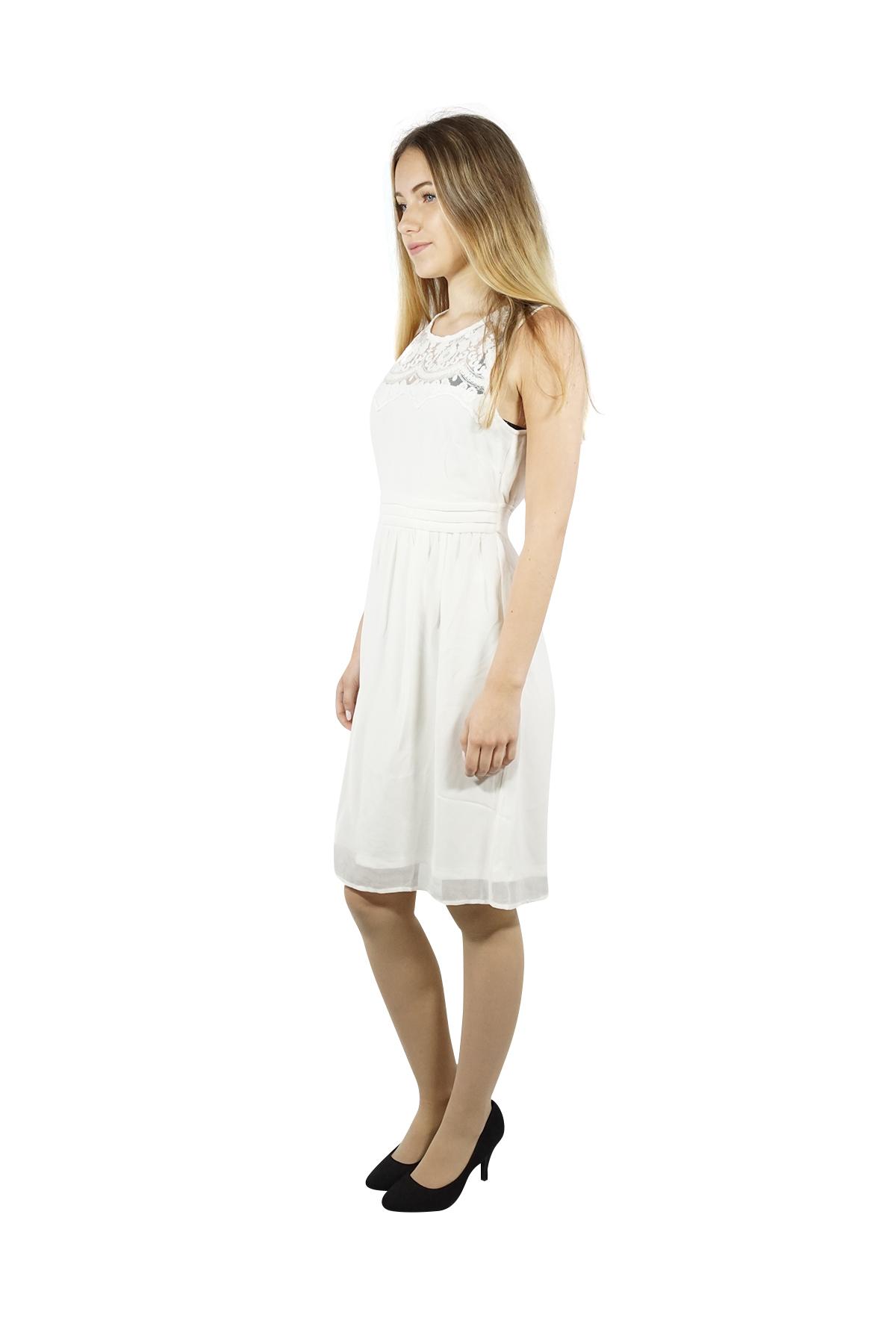 dettagli su vero moda donna abito estivo corto mini basic al ginocchio per  midi abito da sera bianco rosa- mostra il titolo originale
