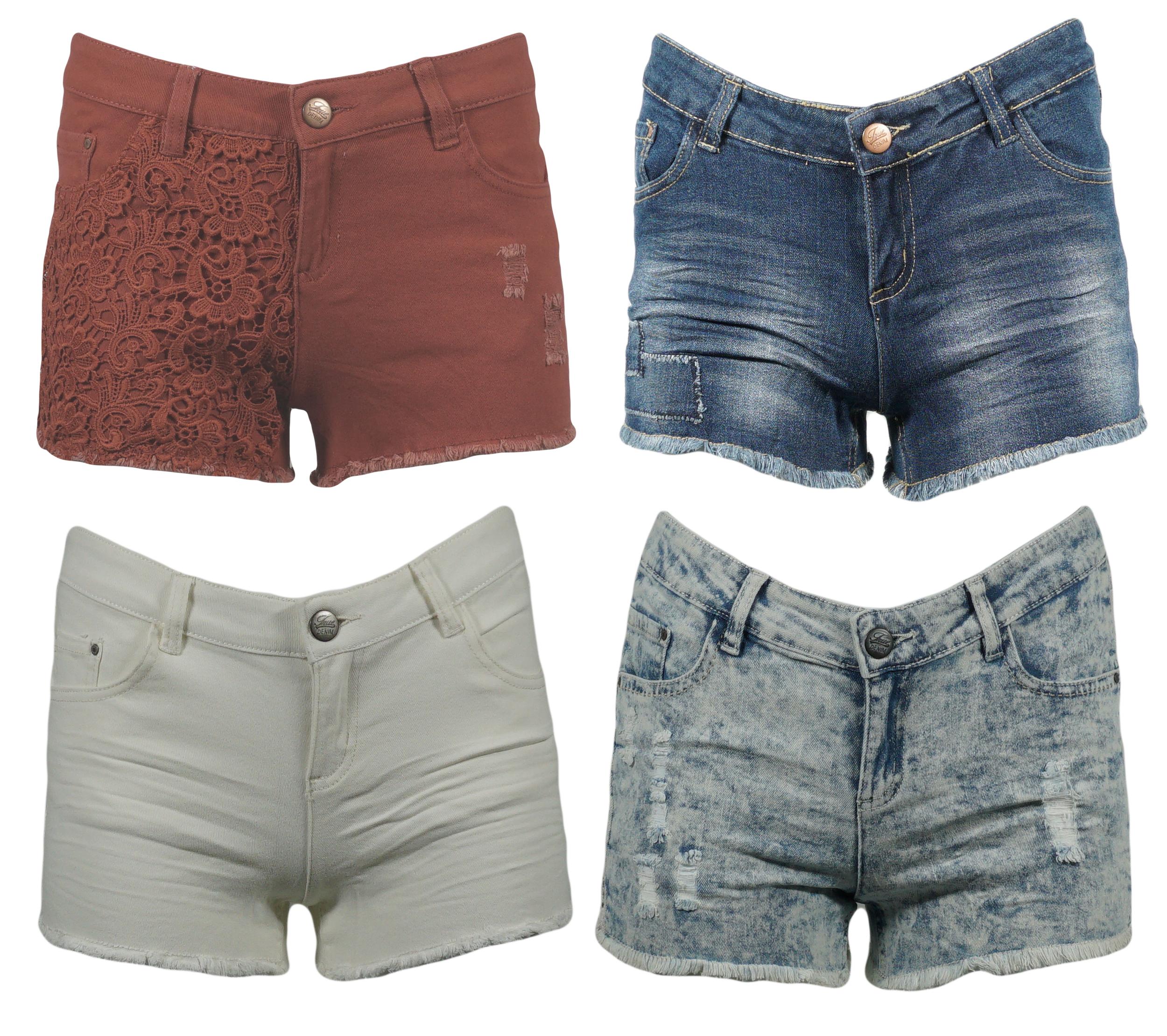 R 21 Damen Hot Pants Sommer kurze Hose Shorts