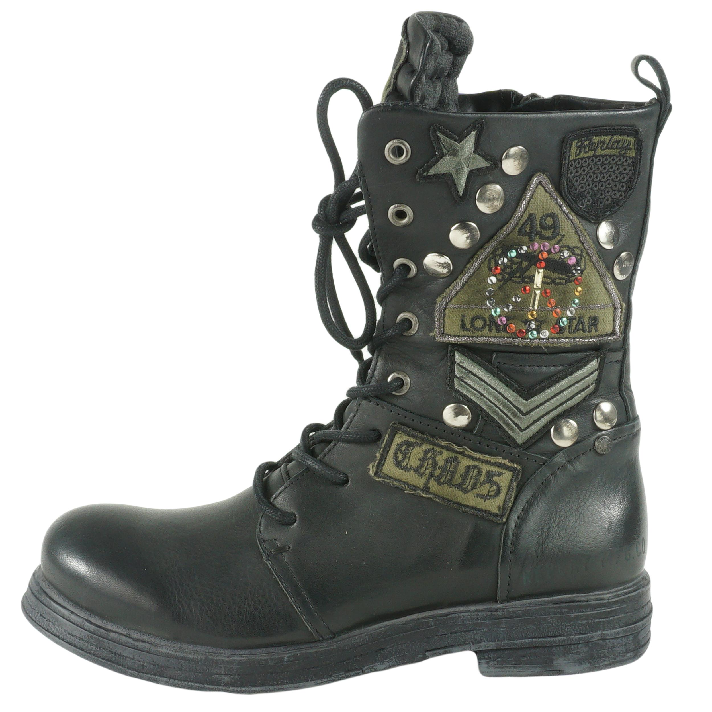 Replay Damen Biker Boots RL260045L Stiefel Schuhe ...