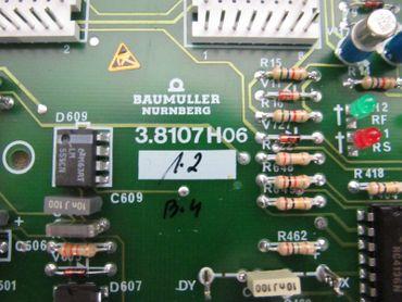 Baumüller Nürnberg 3.8107 H06 Regel & Steuersatz / Lathe Board BKF DC Drive NEU – Bild 3