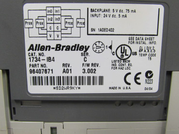 Allen Bradley 1734-IB4 Input Module Top Zustand – Bild 2