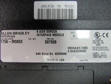Allen Bradley 1756-M08SE Series B Sercos Servo Module NEU OVP – Bild 4
