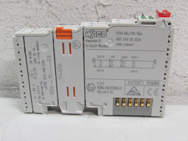 Wago I/O 750-504 4 DO 24V DC 0.5A 4-Kanal Digital Ausgangsklemme  – Bild 1