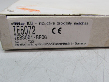 ifm electronic efector 100 IE5072 IEB3001-BP0G  Induktiver Sensor NEU OVP – Bild 3
