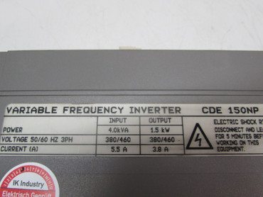Control Techniques CDE 150NP Frequenzumrichter 1,5kW 400V 3,8A Top Zustand – Bild 3