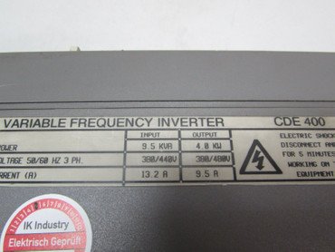 Control Techniques Variabble Frequency Inverter CDE 400 4,0kW 400V 9.5kVA 9,5A – Bild 2