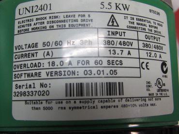 Control Techniques UNI2401 Servo Drive 400V 12,0A 5,5kw – Bild 2
