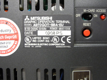 Mitsubishi Graphic Operation Terminal Touch A970GOT-SBA-EU neuwertig – Bild 4