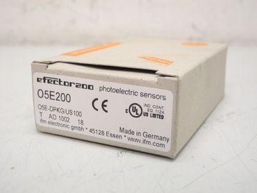 IFM efector 200 O5E200 Reflexlichtschranke O5E-DPKG/US100 05E200 Unbenutzt OVP – Bild 1